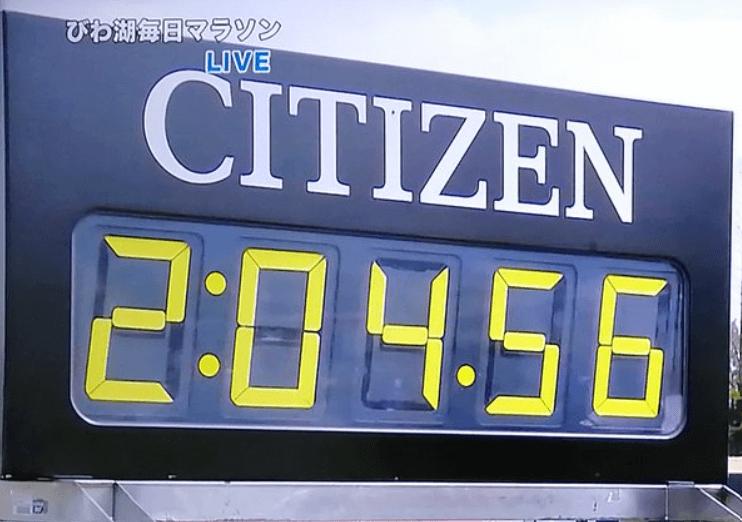 男子マラソン日本新記録